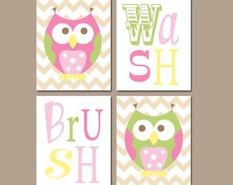 owl circo bathroom art owl bath wall art canvas or prints love n