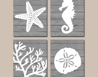 Coral reef art etsy for Coral reef bathroom decor
