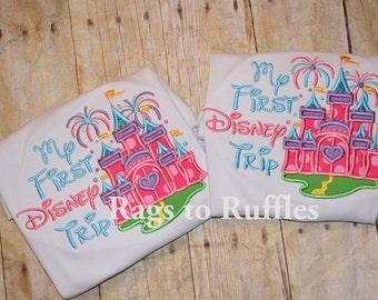 Princess Castle 1st Disney Trip T shirt