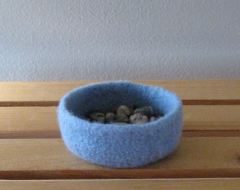 Baby Blue Felted Mini-Bowl - In Stock - Ready to Ship