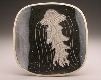 Jellyfish- large square plate- Ruchika Madan