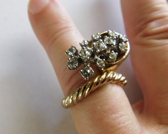 Vintage Rhinestone Jewelry Ring Cornucopia Ring Horn of Plenty Goodness & Abundance