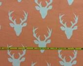 NEW Art Gallery Buck Forest peach on cotton Lycra  knit fabric 1 yard.