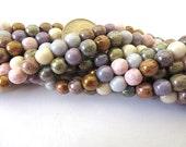 100 Mixed Luster Round Druk Czech Glass Beads 6mm