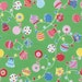 Green Christmas Ornaments and Bells 31329 60 Fabric by Lecien Flower Sugar Holiday