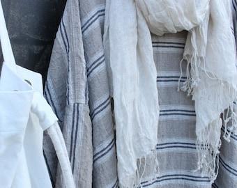 Euro Maxi Linen Stripe Dress