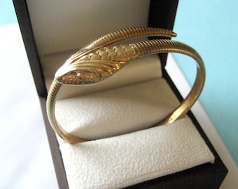 Art Deco 12kt Gold Filled Forstner Serpent Bracelet