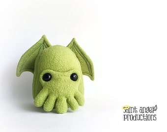 Cthulhu Monster Plushie, Stuffed Plush HP Lovecraft Tentacle Creature, Handmade and READY to SHIP