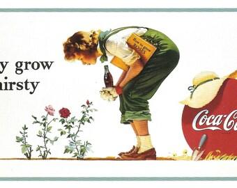 Digital Download Vintage PostCard and Calendar Images Beautiful Girls Drinking Coca Cola 0027
