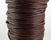 Greek Leather Cord, Chocolate Brown, 2 MM, 12-feet  M98