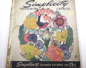 Simplicity Needlework Catalog Vintage 1940s Over Sized Counter Catalog by Simplicity Pattern Co.