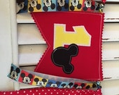 Mickey or Minnie Mouse Birthday Banner - High Chair Photo Shoot Back Drop Red Yellow Black First Second