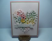 Handmade Stampin Up Bloomin' Love Card 5.5 x 4.25 - Anniversary, Love You, Just Because