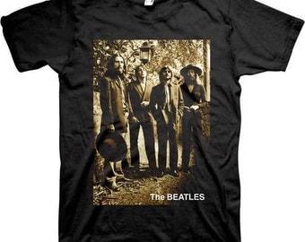 Beatles Sepia 1969 Photo Shirt  Sizes L XL 2XL  Fab Four  60s music Mens clothing