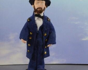Ulysses S. Grant Doll Miniature Historical Civil War General Unique Art