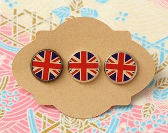 10 pcs handmade flag - earrings, pendant, ring - 12mm (PW-068)