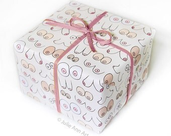 Boob Wrapping Paper - Funny Gift Wrap - Mature