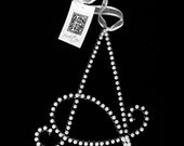 Pearl Letter A Monogram Initial Ornament (All Letters Available)