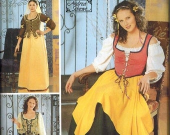 OOP Simplicity 5582 Womens RENAISSANCE Sewing Pattern Sizes 12-14-16-18-20 Costume Baroness