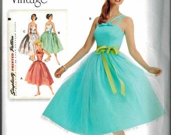 Simplicity 1194 Retro Dress Pattern 1950s Vintage Sizes 14-16-18-20-22 Reissue Full Skirt Rockabilly