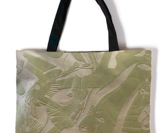 Green Anime Girl Canvas Carry Bag