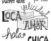 Spanglish Words Stencil: ...