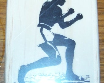 Boxer - Mohammad Ali New Mounted Rubber Stamp