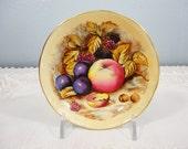 "Aynsley Orchard Gold Small Coaster Dish - Tea Bag Plate - 4-1/4"" Diameter - Perfect!"
