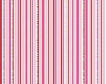 50% OFF Sunny Happy Skies Pink Stripe - 1/2 Yard