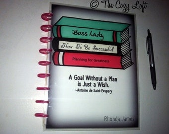 DIY/Digital Download Boss Lady Books Successful Planner Cover - Original Artwork for the Happy Planner, Erin Condren Or Others