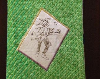 Handwoven, embellished Journal cover