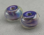 Whirled Peas Beads – Earring Pair –  Encased Triple Passion
