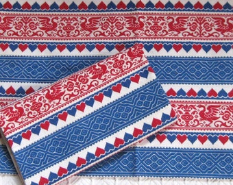 woven pillow case . red white and blue pillow case . greek pillowcase . linen pillow case . greek folk pillow . folk pillowcase . lot of s