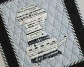 Mini Selvage Quilt Collection PUPPY from Quilts by Elena Wall Hanging Table Topper Selvages