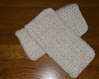 Off White Crochet Cotton Dishcloth set of 2