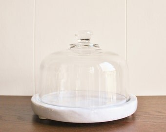 Marble and glass cheese dome