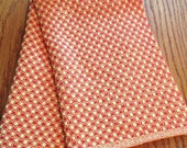 Handwoven Cotton Chef's Towel, Yellow and Red, Dots and Dashes by Frederick Avenue