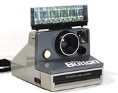 Polaroid The Button SX-70 Instant Land Camera - Includes Flashbar