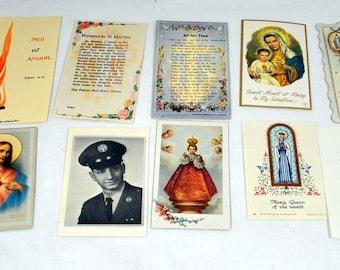 Lot of 13 Vintage Catholic Religion Novena Booklets Prayer Cards Ephemera Paper
