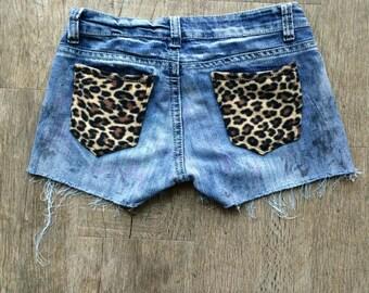 Leopard Pocket Shorts