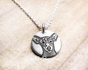 Tiny Miniature Pinscher necklace, min pin jewelry, dog memorial jewelry, mini pin necklace, dog necklace, dog jewelry