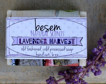 Natural Lavender Soap // chamomile, ylang ylang, lavender essential oil soap, handmade, artisan tallow soap