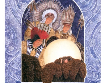 The Huron Carol, Chiefs from Far greeting card