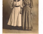 RPPC Two Ladies with Really Big Hair and Very Small Waists