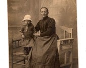RPPC Mother with Her Child Cute Hat on the Child
