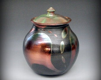 Raku Urn or Lidded Vessel - Large