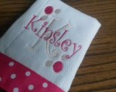 Personalized/Monogrammed Name and Initial Burp Cloth for Girl