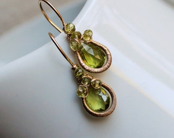 New Leaf Peridot August earrings