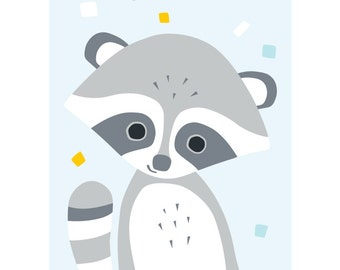 Raccoon postcard - Eco friendly