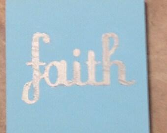 Faith on Field of Blue
